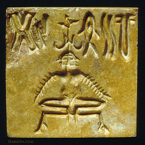 Yogic Seal from Mohenjo-daro in the Indus Valley, N. India