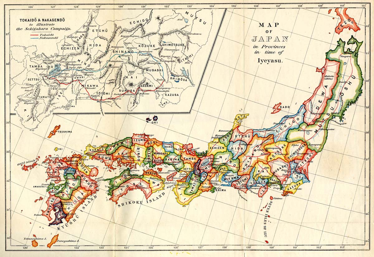 The provinces of Western Japan during the early 17th century, from Tokugawa Ieyasu, 1600-1616 ...