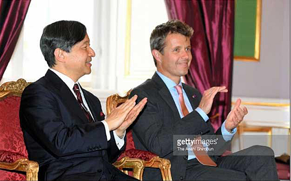 H.I.H. Crown Prince Naruhito of Japan and H.R.H. Crown Prince Frederik of Denmark at the reception at Amalienborg on June 16, 2017.