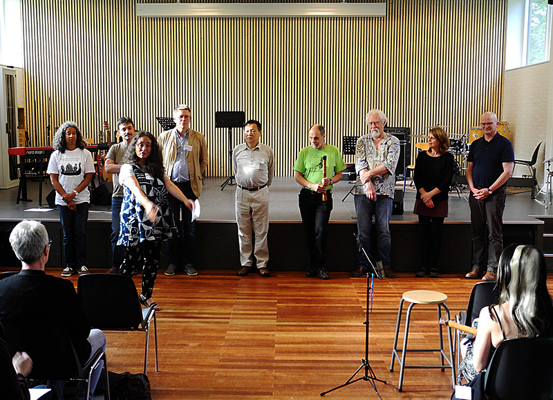 Kiku Day and all the shakuhachi teachers after the amazing and joyful shakuhachi student concert on Sunday, July 30th