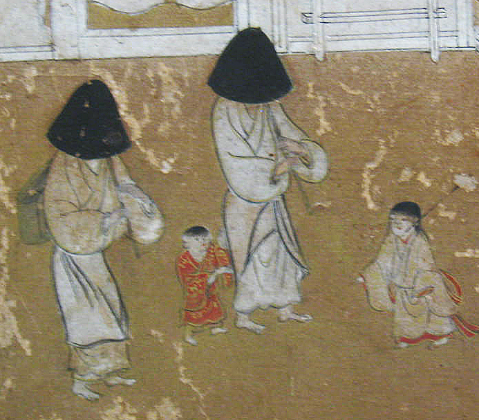 Yet not fully identified and dated early 17th century komosō picture